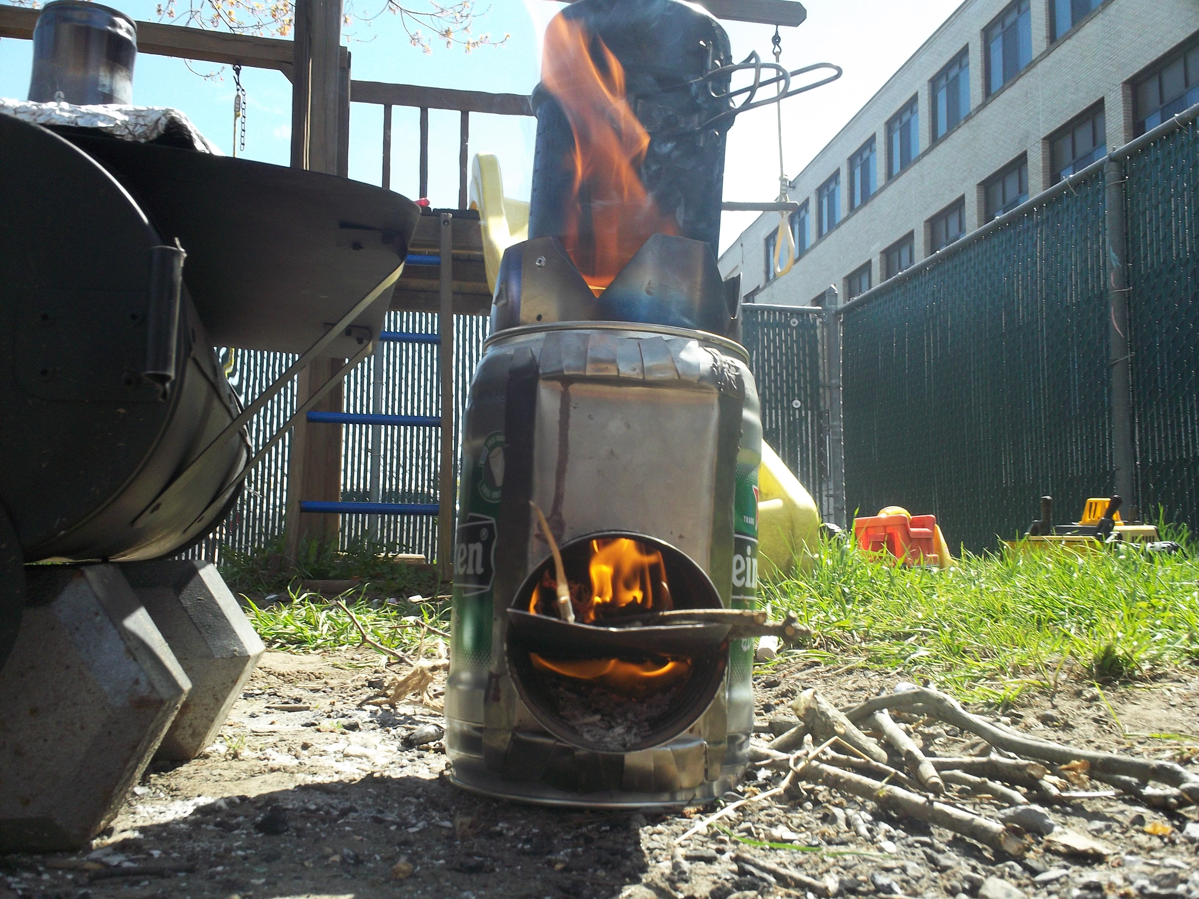 heiny keg rocket stove nagginginspiration