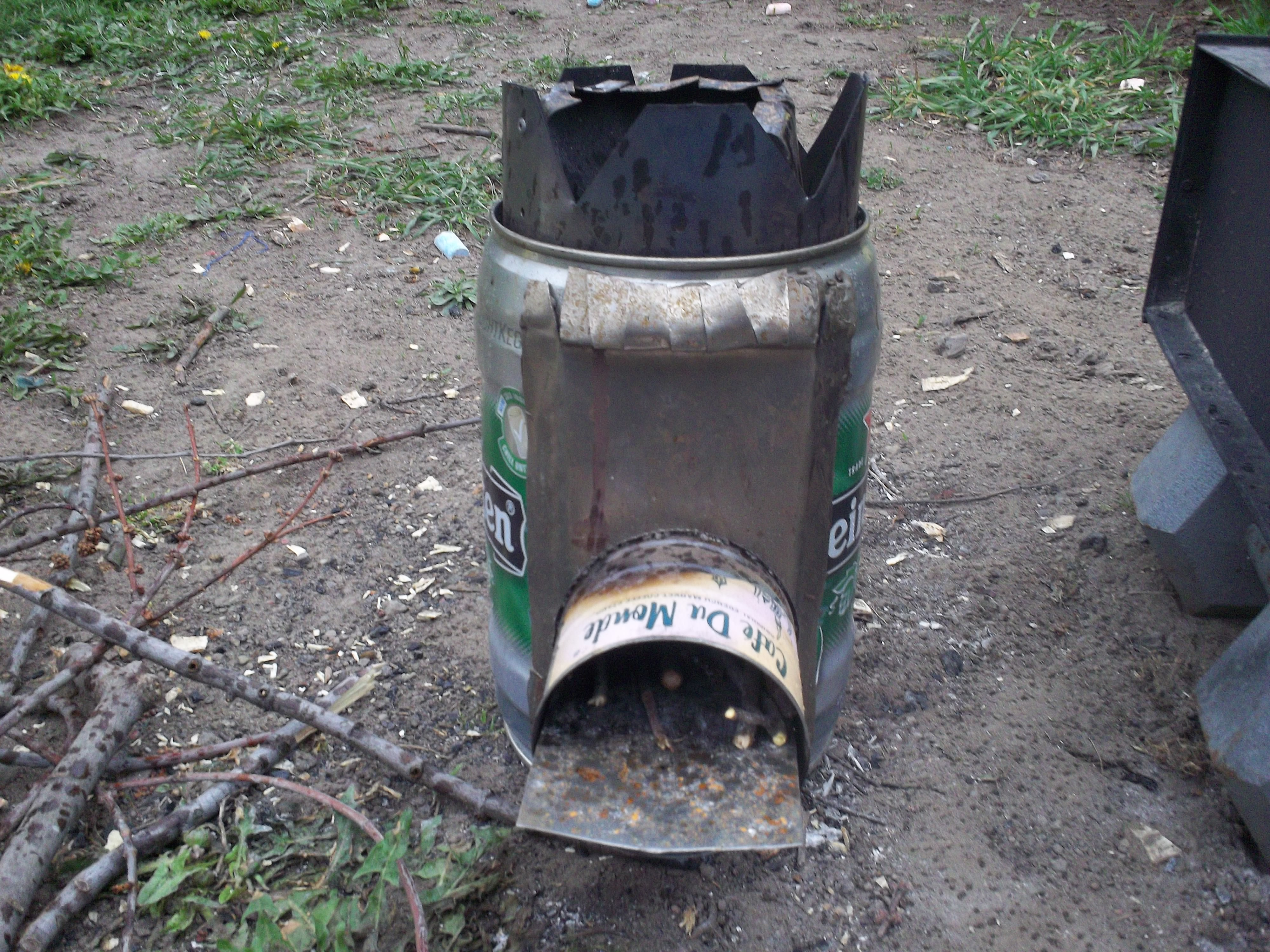 Diy wood stove nagginginspiration for Jet stove diy