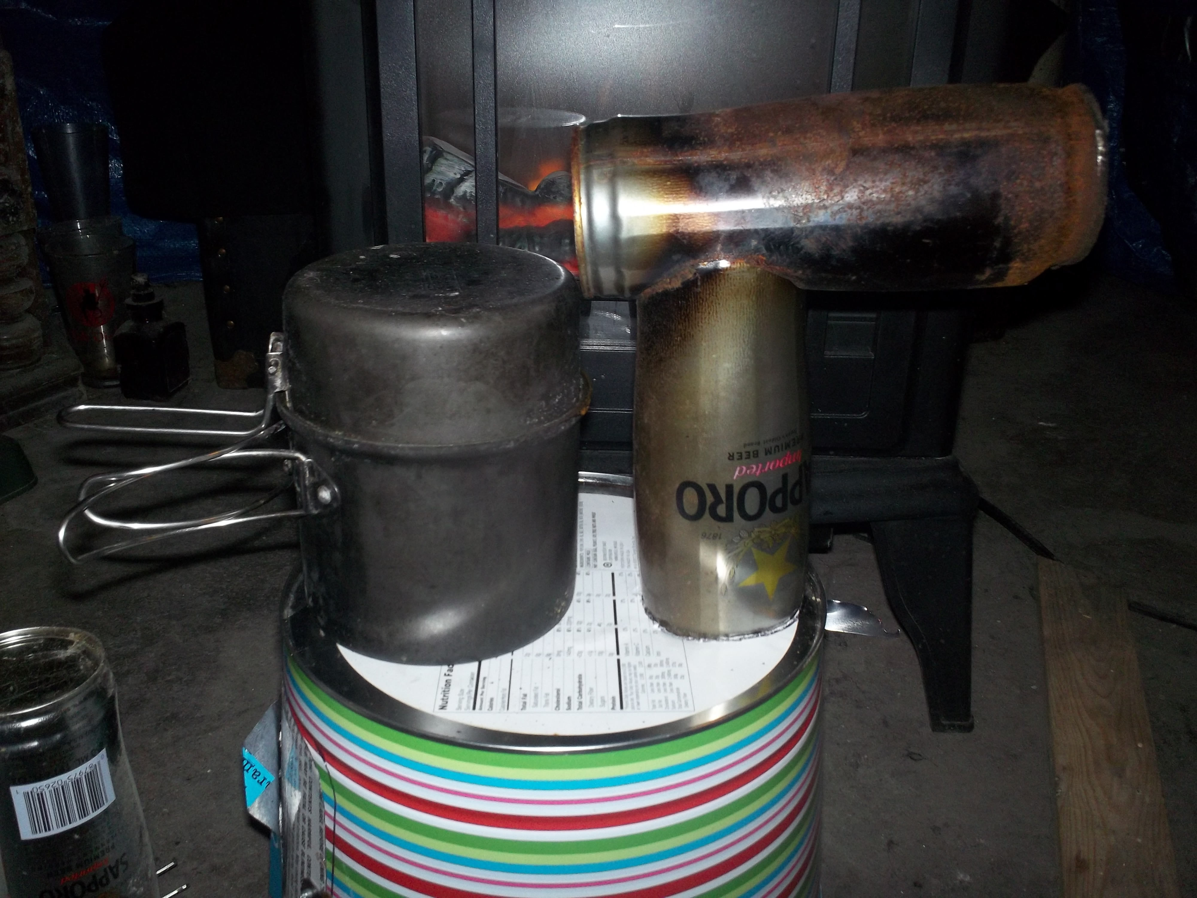 how to build a candle stove